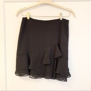 Club Monaco | Polka Dot Ruffle Skirt